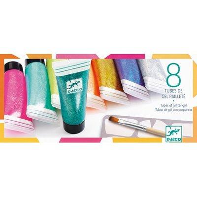 Djeco 8 tubes of glitter gel