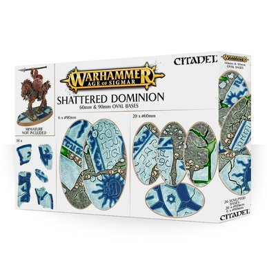 Age of Sigmar Shattered Dominion 60mm & 90mm Oval Bases