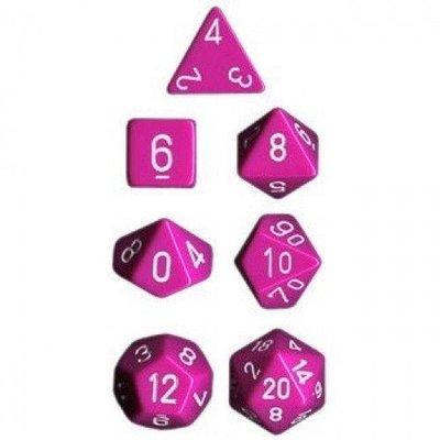 Chessex Dice Set Opa Poly Lt. Light Purple/White CHX 25427