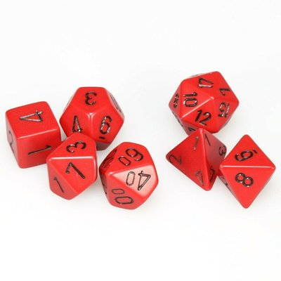 Chessex Dice Set Opa Poly Red/Black CHX 25414
