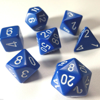 Chessex Dice Set Opa Poly Blue/White CHX 25406