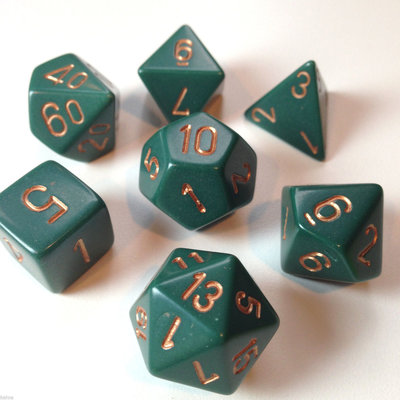 Chessex Dice Set Opa Poly Dust Green/Copper CHX 25415