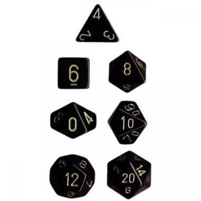 Chessex Dice Set Opa Poly Black/Gold CHX 25428
