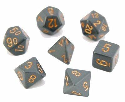 Chessex Dice Set Opa Poly DK. Grey/Copper CHX 25420