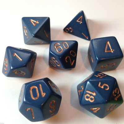 Chessex Dice Set Opa Poly Dust Blue/Copper CHX 25426