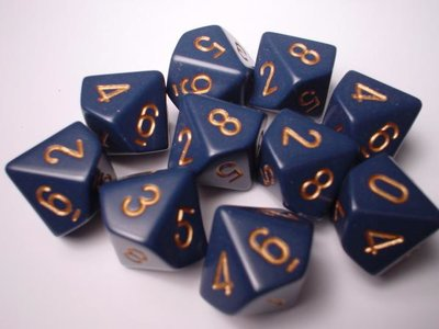 Chessex Dice Set Dusty Blue With Gold CHX 25226