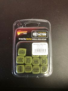 Warlord Games Bolt Action Orders Dice Green (12)