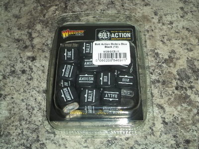 Warlord Games  Bolt Action Orders Dice Black (12)