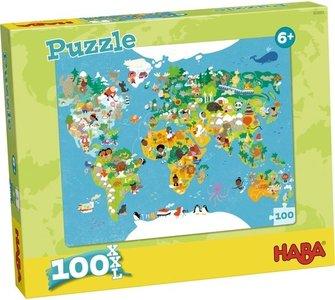 HABA Puzzel Wereldkaart
