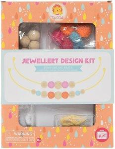 Jewellery design kit Pom poms and beads