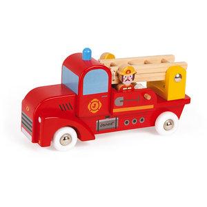 Janod Brandweerwagen met 2 brandweermannen